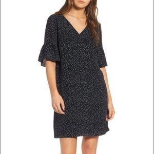 Madewell Flutter Sleeve Polka Dot Dress